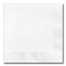 Recycled White Beverage Napkin