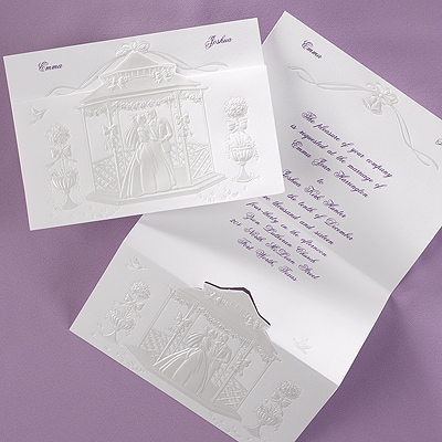 Gazebo Wedding Invitation Purple Invitation Suites Carlson
