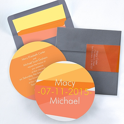 Color Block - Invitation - Marigold