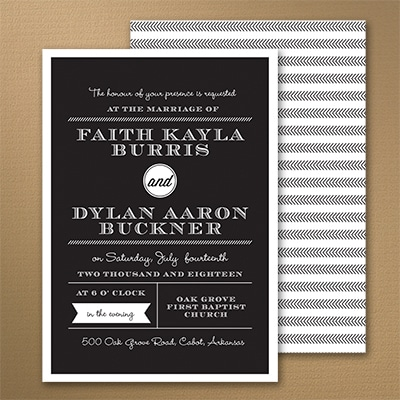 Typography Details - Invitation