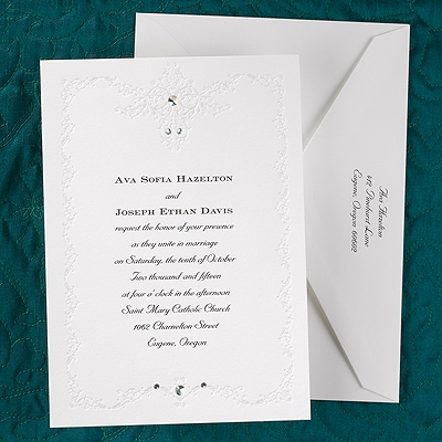 romantic sparkle invitation wedding invitations gossett