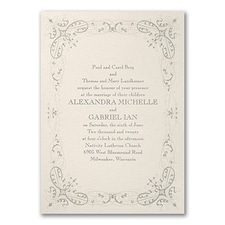 Luxury wedding invitations: Glittering Flourish