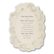 laser cut invitation: Vintage Doily
