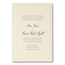 Simple wedding invitations: Charming Sophistication