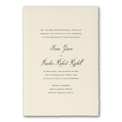 Charming Sophistication - Invitation