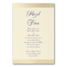 Elegant Wedding Invitations: Golden Day