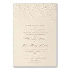 embossed invitation: Royal Affair