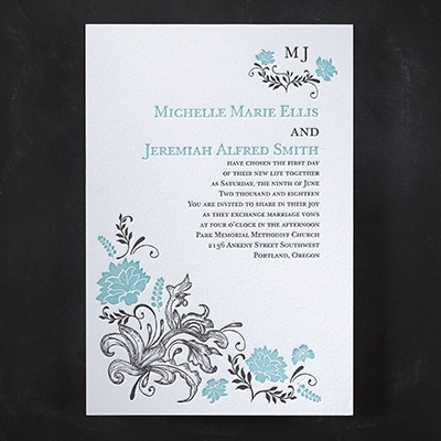 Floral Delight - Invitation