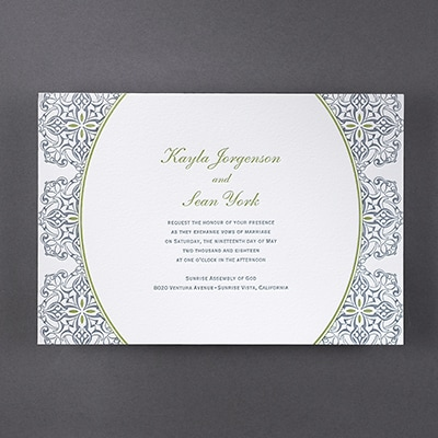 Fancy Filigree - Invitation