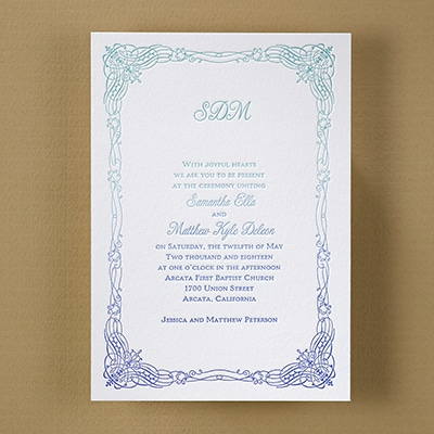 Fascinating Frame - Ombre Invitation