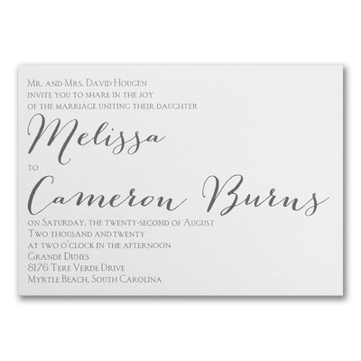Contemporary Expressions - Triple Thick Invitation