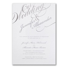 Elegant Wedding Invitations: Sparkling Script