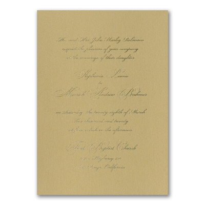 Elegant Type - Invitation