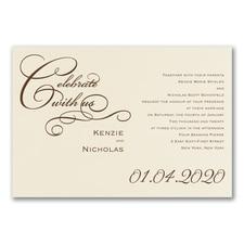 Simple wedding invitations: Joyful Type