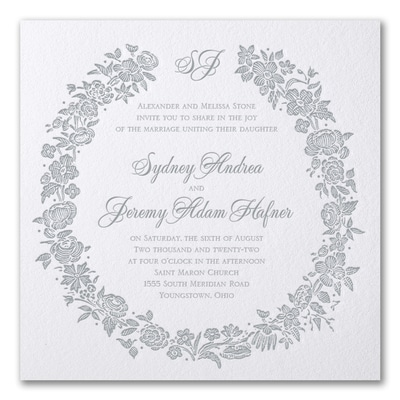 Rosy Wreath - Invitation