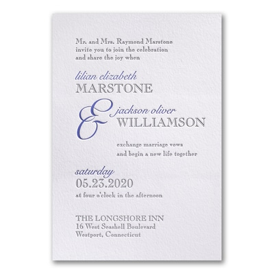 Contemporary Style - Invitation - Lettra Fluorescent White