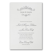 Letterpress wedding invitations: Regal Vows