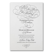 Letterpress wedding invitations: Whirlwind Romance