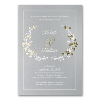 Timeless Garden - Double Thick Invitation