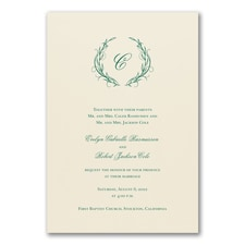 Elegant Wedding Invitations: Naturally Entwined