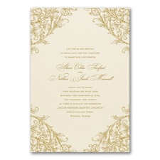 Vintage wedding invitation: Elegant Romance