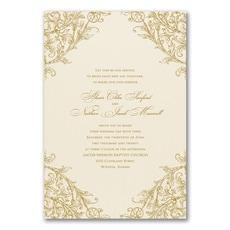 Elegant Romance - Wedding Invitation