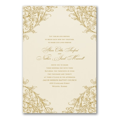 Elegant Romance - Invitation