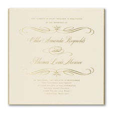 Luxury wedding invitations: Royalty