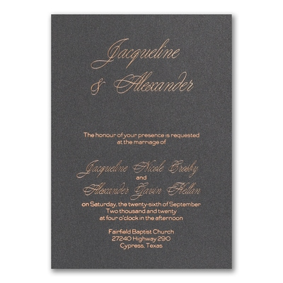 Dark Elegance - Invitation