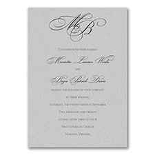 Elegant Wedding Invitations: Silver Shimmer Tiffany