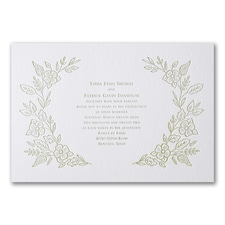 Letterpress wedding invitations: Refined Floral