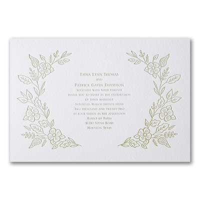 Refined Floral - Invitation