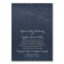 Luxury wedding invitations: Cosmic Romance