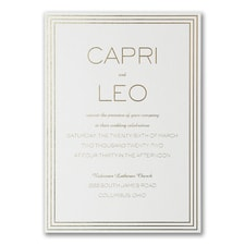 Luxury wedding invitations: Lovely Marble