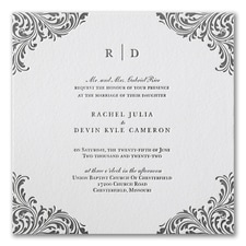 Letterpress wedding invitations: Exquisite Flourish