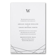 Luxury wedding invitations: Modern Marvel