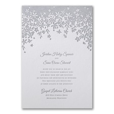 Letterpress wedding invitations: Darling Floral