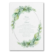 Watercolor Elegance - Triple Thick Invitation