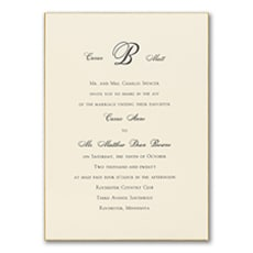 Exquisite Golden Border - Monogram Invitation