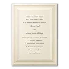 A Royal Frame - Invitation - Ecru