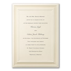 A Royal Frame - Wedding Invitation