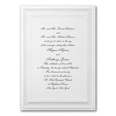 A Royal Frame - Monogram Invitation