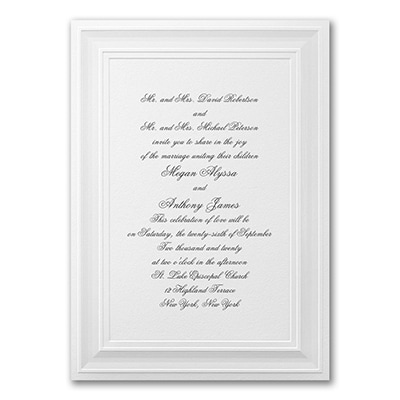 A Royal Frame - Invitation - White