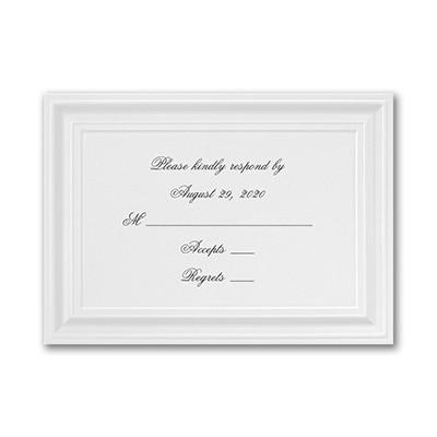 A Royal Frame - Response Card and Envelope - White
