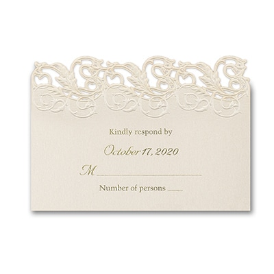 Shimmering Elegance - Response Card and Envelope