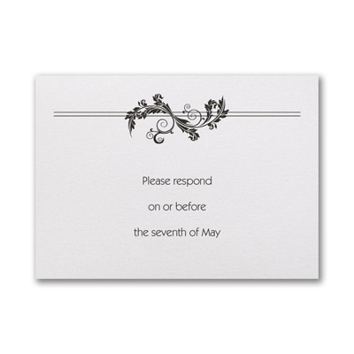 In a Flourish Pocket - Respond Card and Envelope