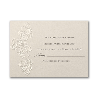 Elegant Floral Lace - Response Card and Envelope