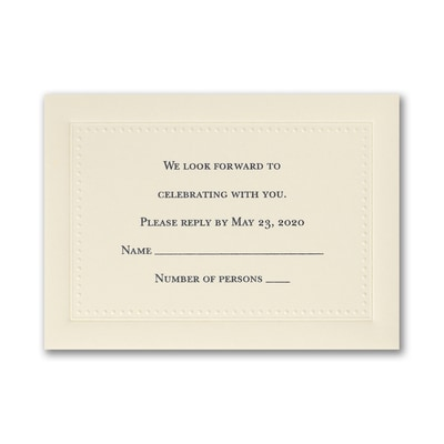 This is Forever - Response Card and Envelope