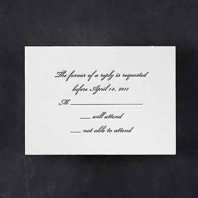 Marvelous Matrimony - Response Card and Envelope