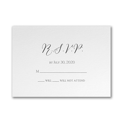 Contemporary Expressions - Double Thick Response Card and Envelope